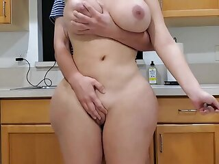 Scorching dam and sonny in scullery
